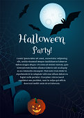 Vector illustration on the theme of Halloween. Good for greeting card, invitation, poster. Vector EPS 10