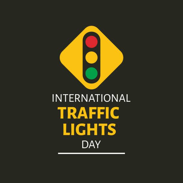 illustrations, cliparts, dessins animés et icônes de illustration vectorielle sur le thème de la journée internationale des feux de circulation le 5 août. - calendrier de l'avant