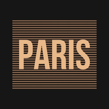 Vector illustration on the theme of Paris, France.