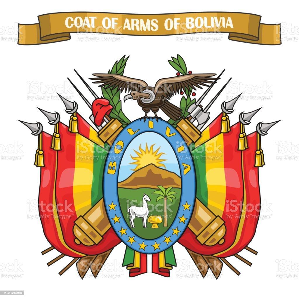 Ilustración de vector de tema escudo boliviano - ilustración de arte vectorial