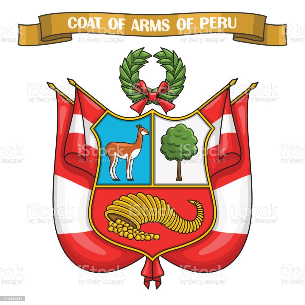Vector illustration on theme Peruvian Coat of Arms – Vektorgrafik