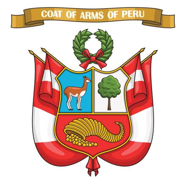 Vektordarstellung zum Thema peruanisches Wappen – Vektorgrafik