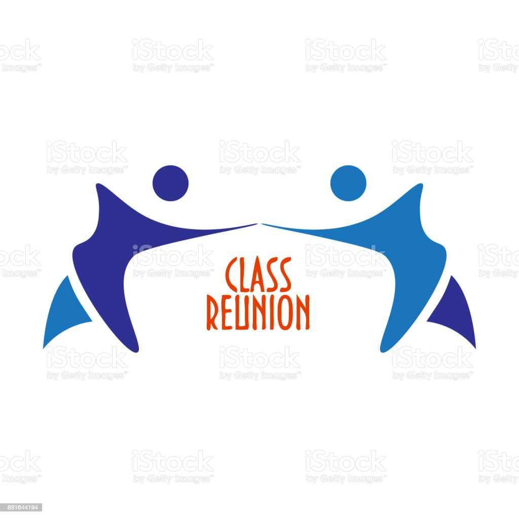 Vector illustration or sign template: Class Reunion. Great as invitation template for High School Class Reunion party. vector art illustration