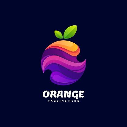 Vector Illustration Orange Gradient Colorful Style.