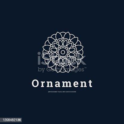 Vector Illustration Ornament Infinity Line Art Style.