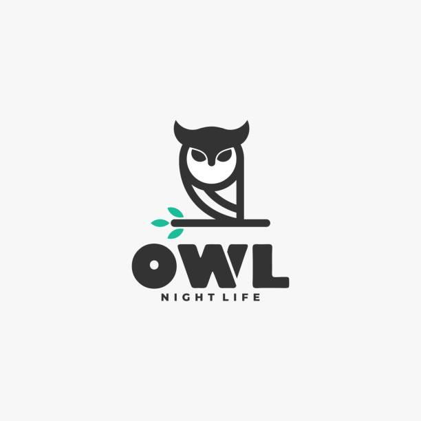 Vector Illustration Owl Line Art Style. Vector Illustration Owl Line Art Style. carnivorous stock illustrations