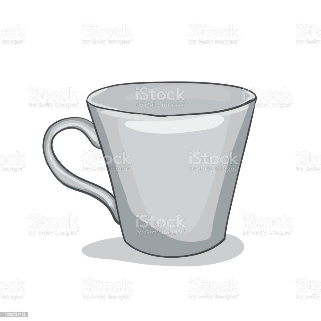 Vector illustration painted cup vector art illustration