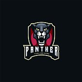 Vector Illustration Panther E Sport and Sport Style.