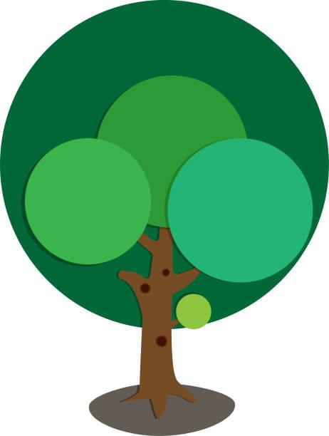 Vektor-Illustration-Papier-Baum mit Platz für text – Vektorgrafik