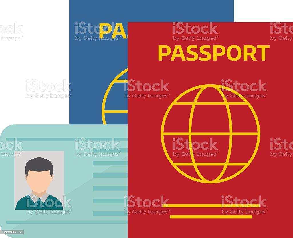 Vektor-illustration Pass mit Eintrittskarten. – Vektorgrafik