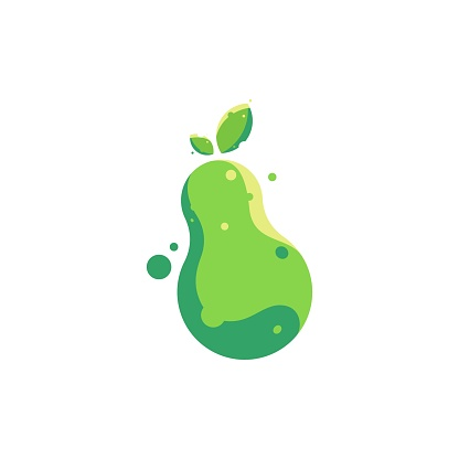 Vector Illustration Pear Colorful Style.