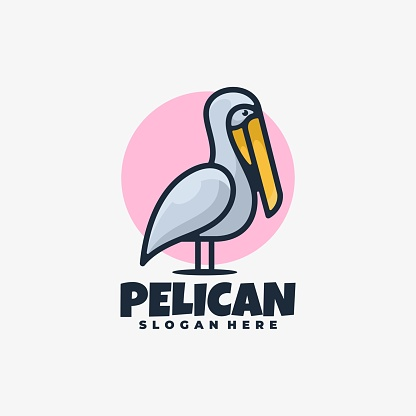 Vector Illustration Pelican Simple Mascot Style