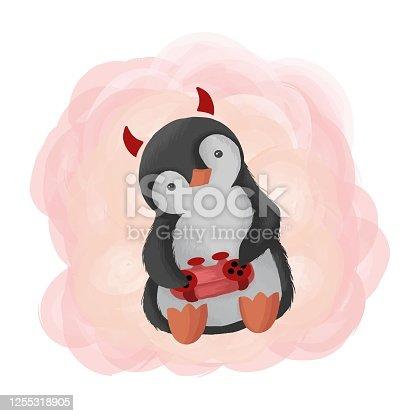 Vector Illustration Penguin Mascot Cartoon Style.