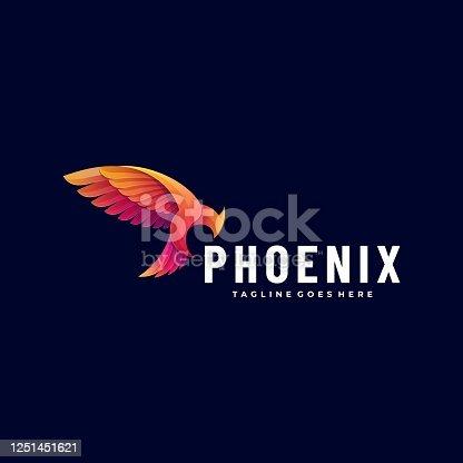 istock Vector Illustration Phoenix Gradient Colorful Style. 1251451621