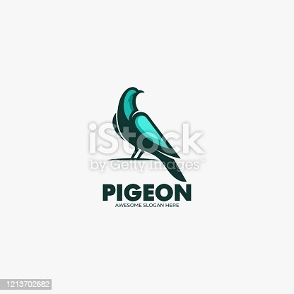 istock Vector Illustration Pigeon Mascot Cartoon Style. 1213702682