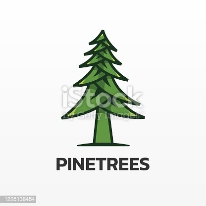 istock Vector Illustration Pine Simple Mascot Style. 1225136454