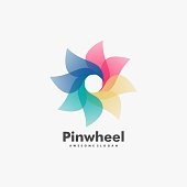 Vector Illustration Pinwheel Gradient Colorful Style.
