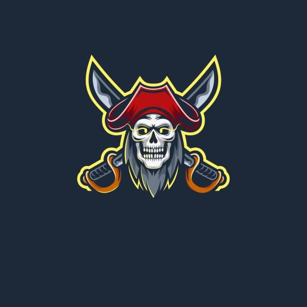 Vector Illustration Pirates E Sports Style. Vector Illustration Pirates E Sports Style. bandit stock illustrations