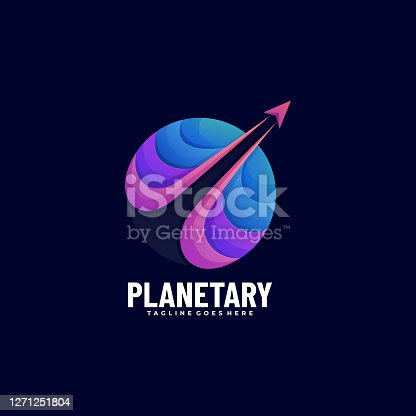 istock Vector Illustration Planet Gradient Colorful Style. 1271251804