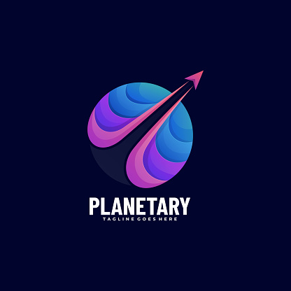 Vector Illustration Planet Gradient Colorful Style.