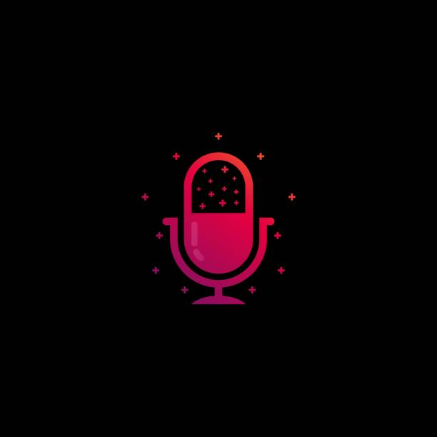 Vector Illustration Podcast Gradient Colorful Style. Vector Illustration Podcast Gradient Colorful Style. music and entertainment icons stock illustrations