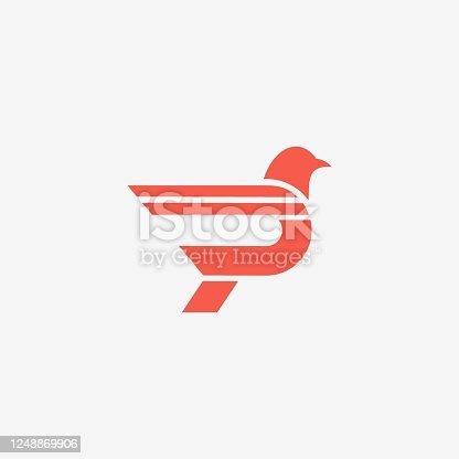 istock Vector Illustration Point Bird Dual Meaning Style. 1248869906