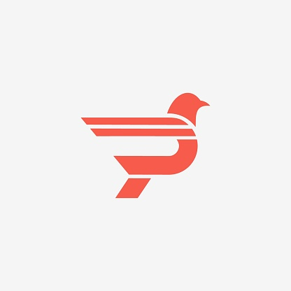 Vector Illustration Point Bird Dual Meaning Style.