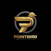 istock Vector Illustration Point Bird Gradient Colorful Style. 1252829047