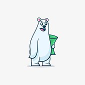 Vector Illustration Polar Simple Mascot Style.