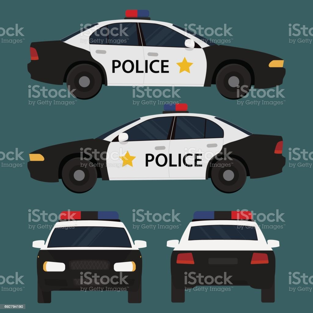Vector illustration police car. vector art illustration