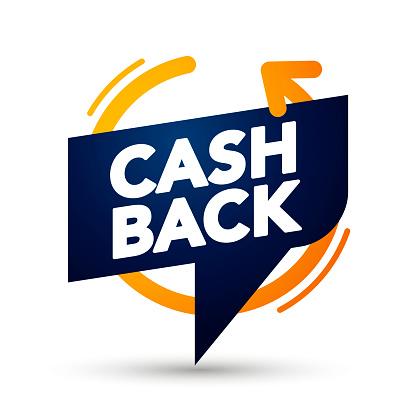 Vector Illustration Premium Cash Back Banner Bubble. Web Element Label.