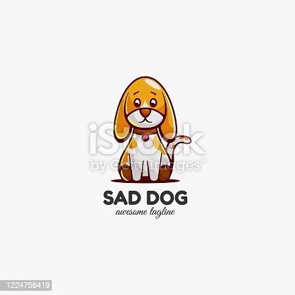 istock Vector Illustration Puppy Mascot Cartoon Style. 1224756419