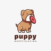 istock Vector Illustration Puppy Simple Mascot Style. 1271040819