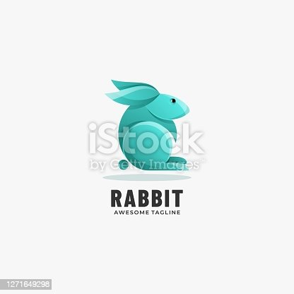 istock Vector Illustration Rabbit Gradient Colorful Style. 1271649298