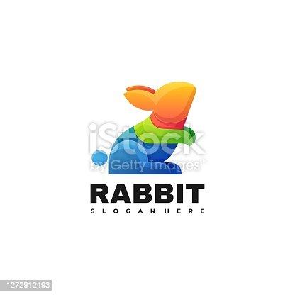 istock Vector Illustration Rabbit Gradient Colorful Style. 1272912493