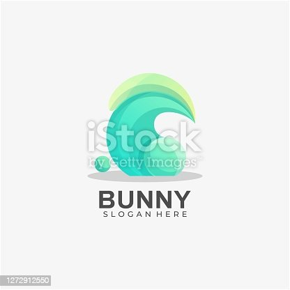 istock Vector Illustration Rabbit Gradient Colorful Style. 1272912550