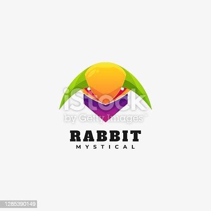 istock Vector Illustration Rabbit Gradient Colorful Style. 1285390149