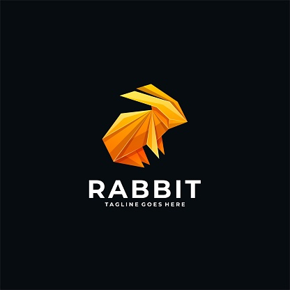 Vector Illustration Rabbit Poly Colorful Style.