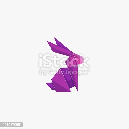 istock Vector Illustration Rabbit Poly Colorful Style. 1215170851