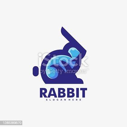 istock Vector Illustration Rabbit Simple Mascot Style. 1285389570