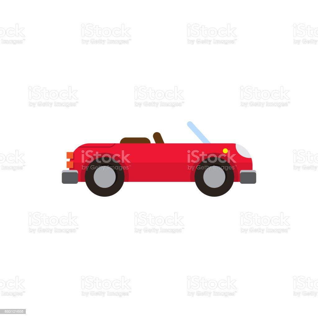 Vector Illustration rot Sport-Cabrio flachen Stil – Vektorgrafik