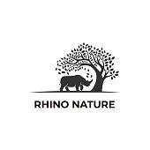 Vector Illustration Rhino Nature Silhouette.