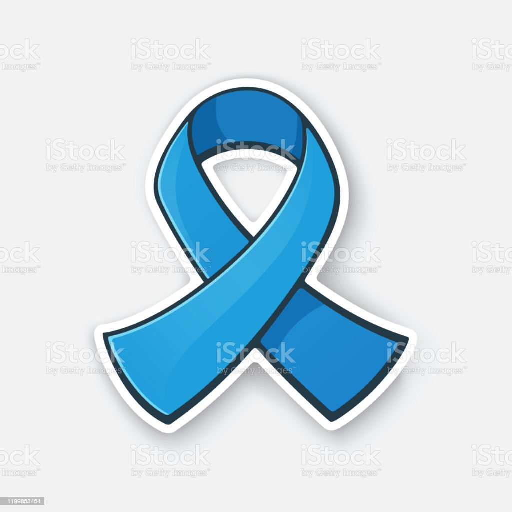 Vector Illustration Ribbon At Blue Color International Symbol Of Colon Cancer Awareness Stock Illustration Download Image Now Istock