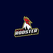 Vector Illustration Rooster E Sport and Sport Style.