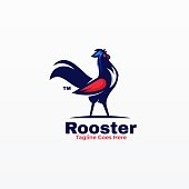 istock Vector Illustration Rooster Simple Mascot Style. 1225136428
