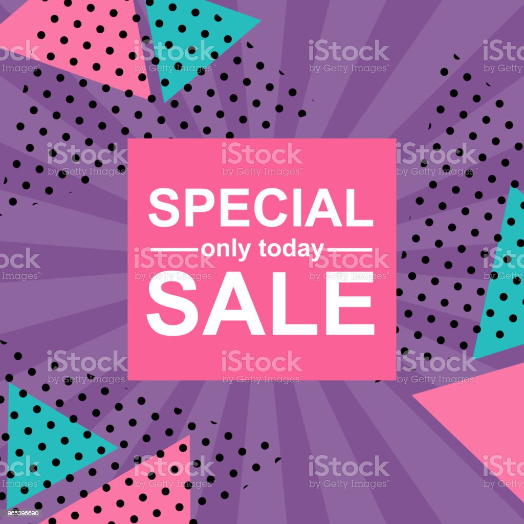 Vector Illustration. Sale card on background in retro style. Season sale only today royalty-free vector illustration sale card on background in retro style season sale only today stock vector art & more images of abstract