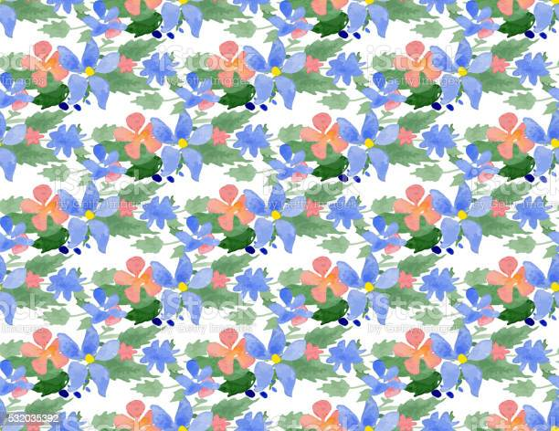 Vector illustration seamless pattern with watercolor flowers vector id532035392?b=1&k=6&m=532035392&s=612x612&h=pk67lrcacwegztdkc2it4xhbkbs bvc5g1hs1b3vp0k=