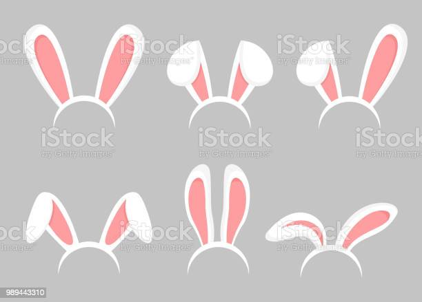 Vector illustration set of easter bunny cartoon ears animal bunny vector id989443310?b=1&k=6&m=989443310&s=612x612&h=3dfm8an4neijx8jezox d0k06dyanvw pncydpf9ipc=