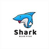 istock Vector Illustration Shark Simple Mascot Style. 1252278938