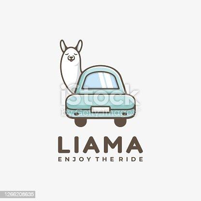 istock Vector Illustration Sheep Simple Mascot Style. 1266208635